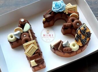 חדש!, עוגת מוס 13 - מוס שוקולד מריר עם גנאש ופיצוץ של שוקולד (ניתן להזמין בטעמים שונים)