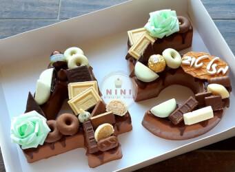 חדש!, עוגת מוס 45 - מוס שוקולד מריר עם גנאש ופיצוץ של שוקולד (ניתן להזמין בטעמים שונים)