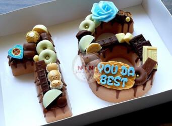 חדש!, עוגת מוס 16 - מוס שוקולד מריר עם גנאש ופיצוץ של שוקולד (ניתן להזמין בטעמים שונים)